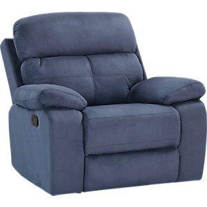 Corinne Blue Reclining Sofa Furniture Glider Recliner Recliner
