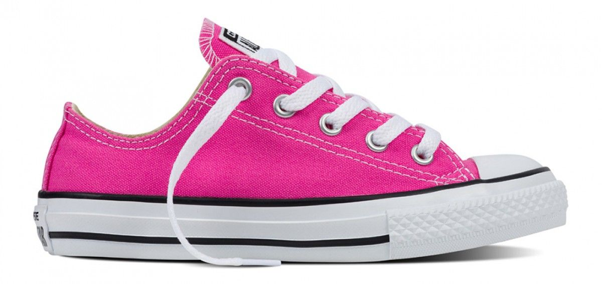 182a2e8fff89 Converse Kids Chuck Taylor All Star Seasonal Low Top Mod Pink ...