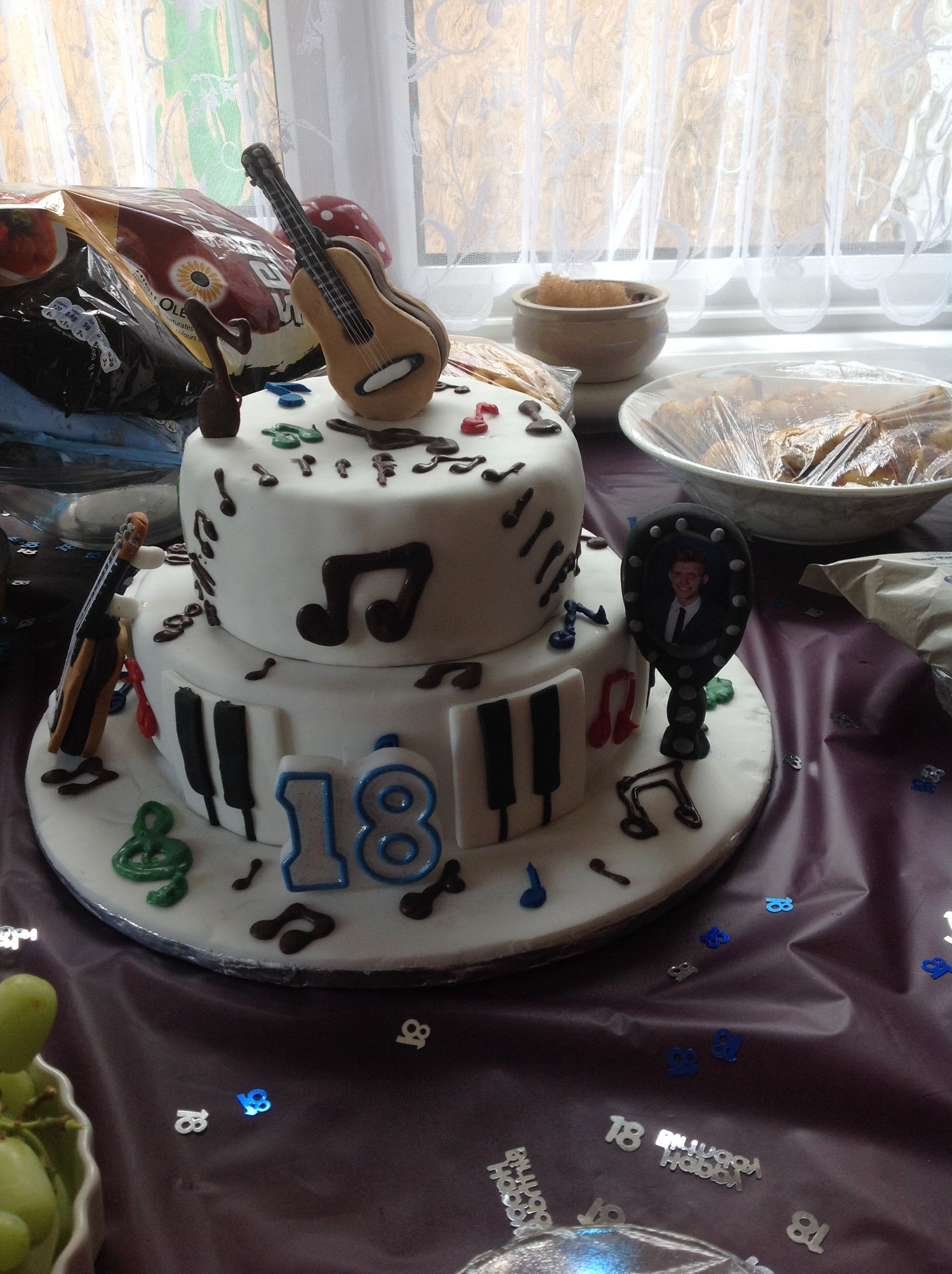 Connors 18th musical cake music cakes cake