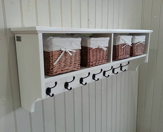 Gentil Hat U0026 Coat Rack With Shelf Including Storage Baskets Compartments And Cubby  Holes.