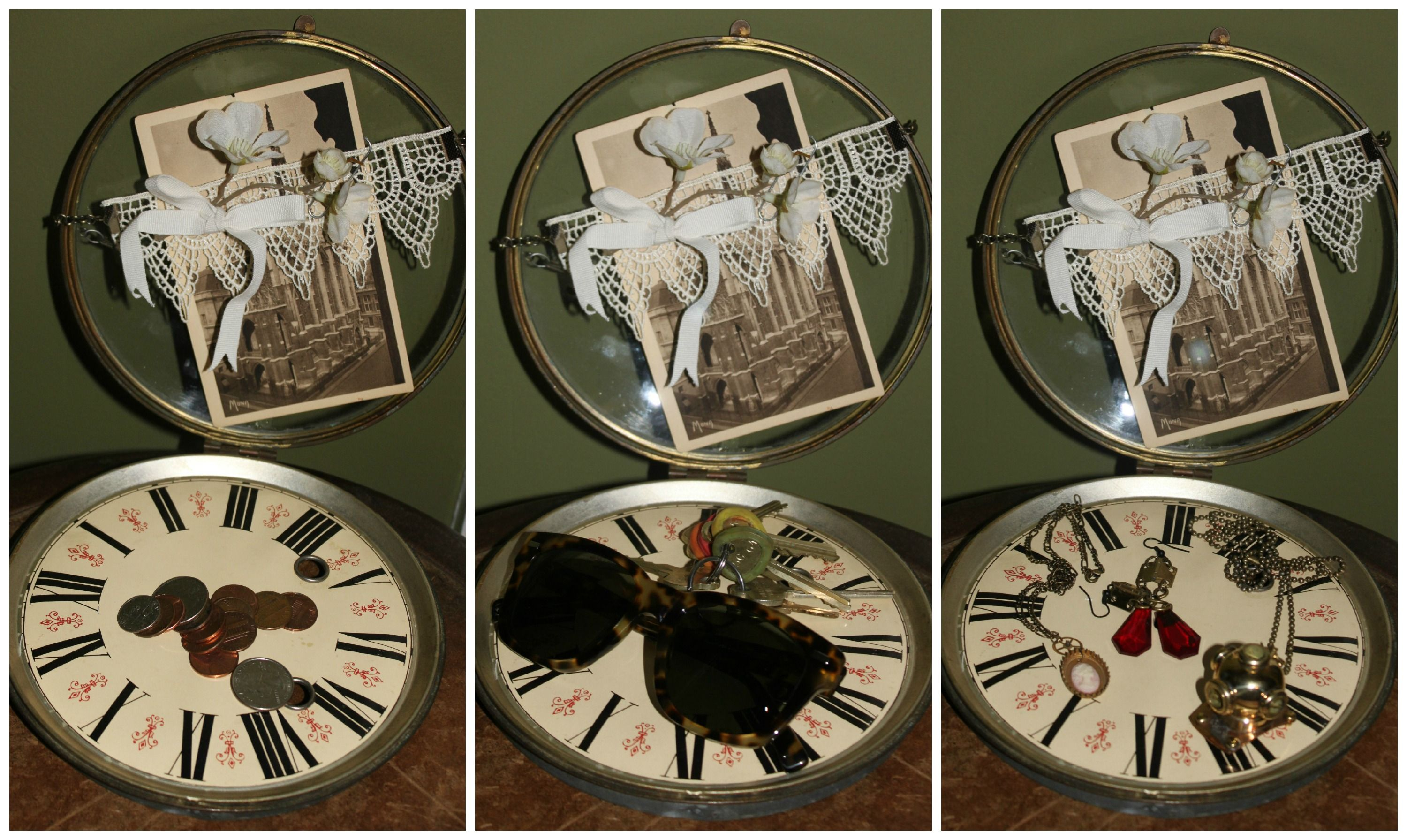 DIY Steampunk Home Decor: Clock Face Catch All