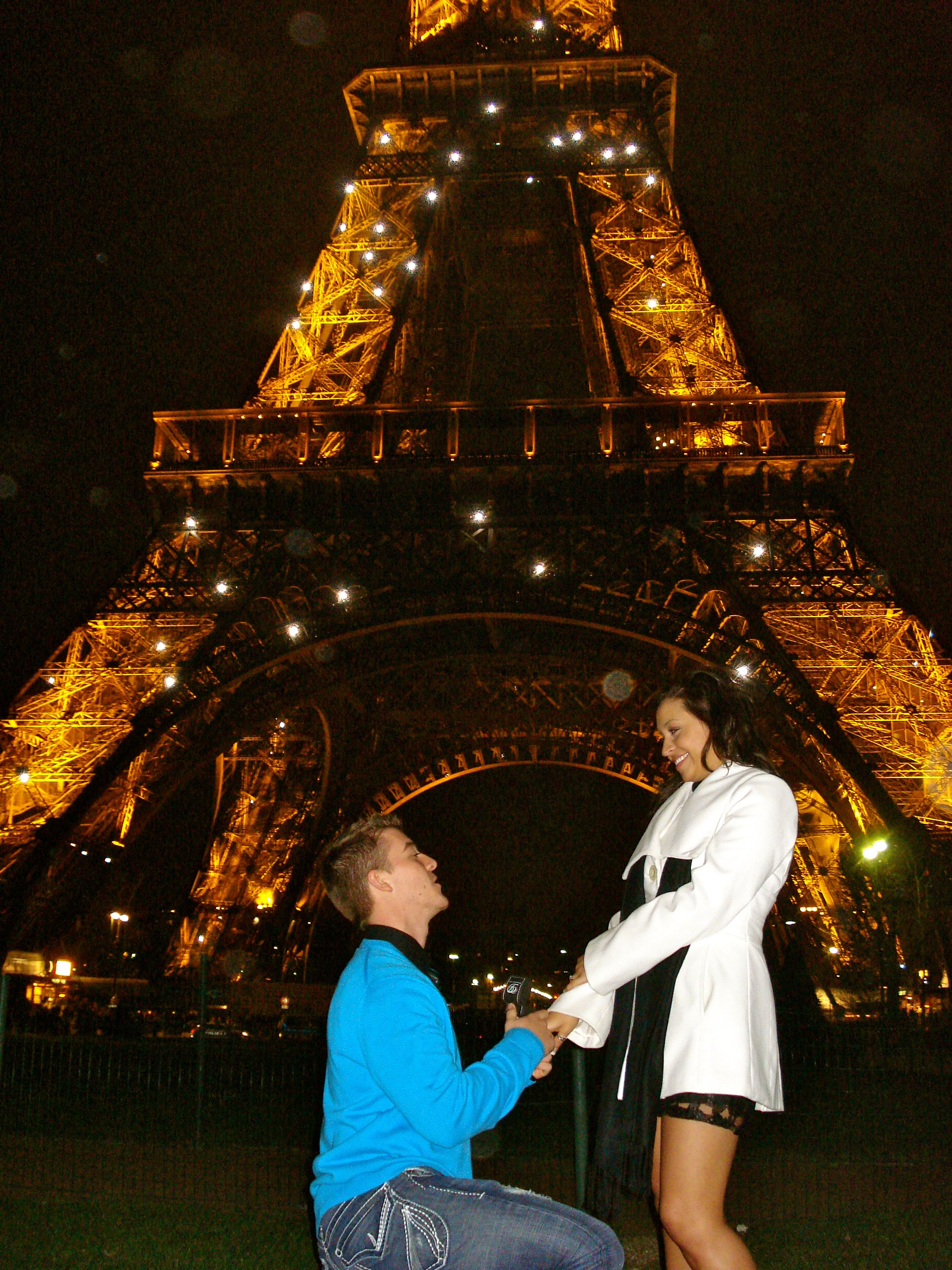 The actual picture from when Brandon proposed to me March 10, 2012 :) This was the happiest day of my life!