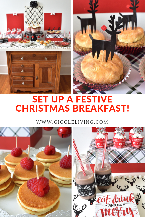Fun ideas for serving a Christmas Breakfast buffet for your