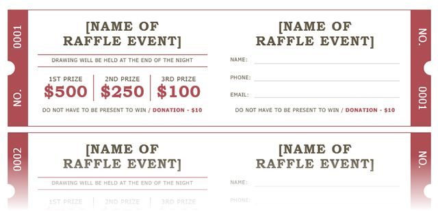 how to get a free raffle ticket template for microsoft word family