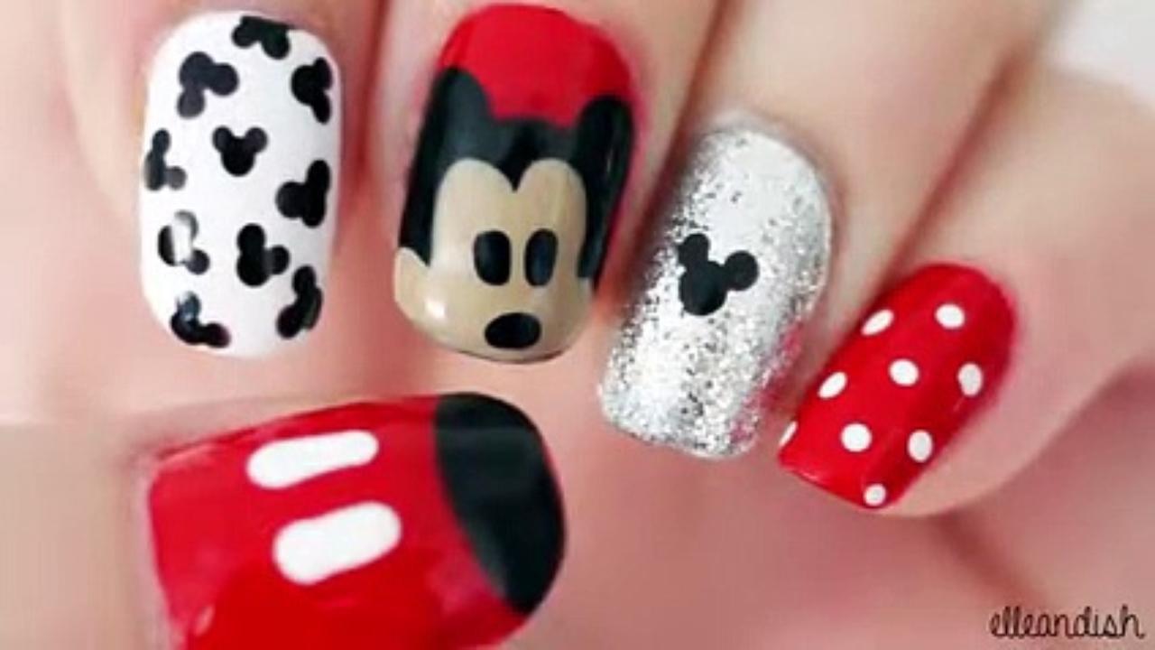 Disney Eeyore Nail Art Video Dailymotion Mickey Nails Mickey