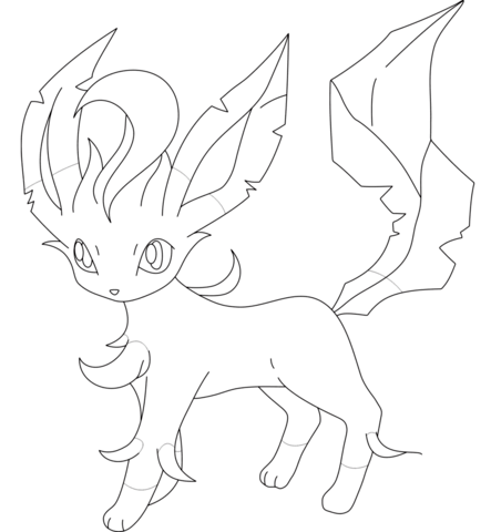 Leafeon Coloring Page Free Printable Coloring Pages Pokemon Coloring Pages Pokemon Coloring Sheets Pokemon Coloring