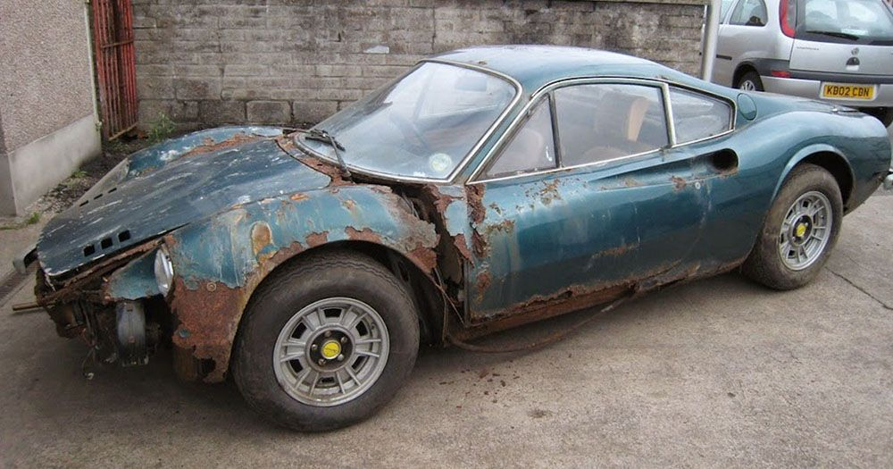 1973 Ferrari Dino Barn Find We Love A Retoration This May Take While Though