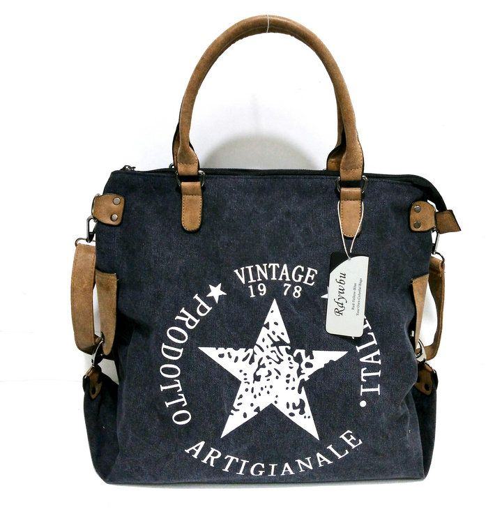 Rdywbu VINTAGE BIG STAR PRINTED CANVAS TOTE HANDBAG Women's Multifunctional Travel Shoulder Bag Letters Messenger Bolsos B211-in Shoulder Bags from Luggage & Bags on Aliexpress.com | Alibaba Group
