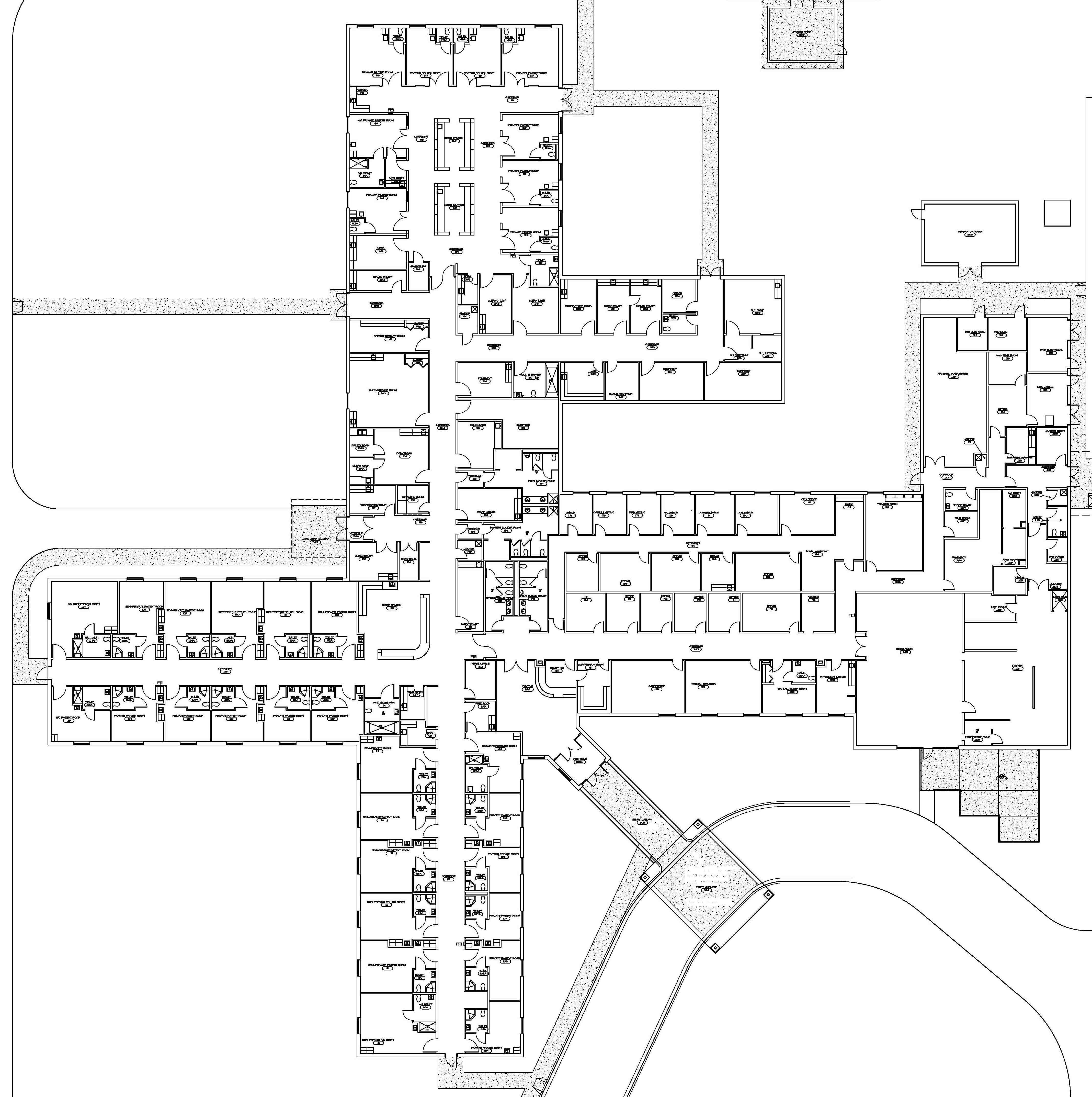Oncology Center Floor Plans