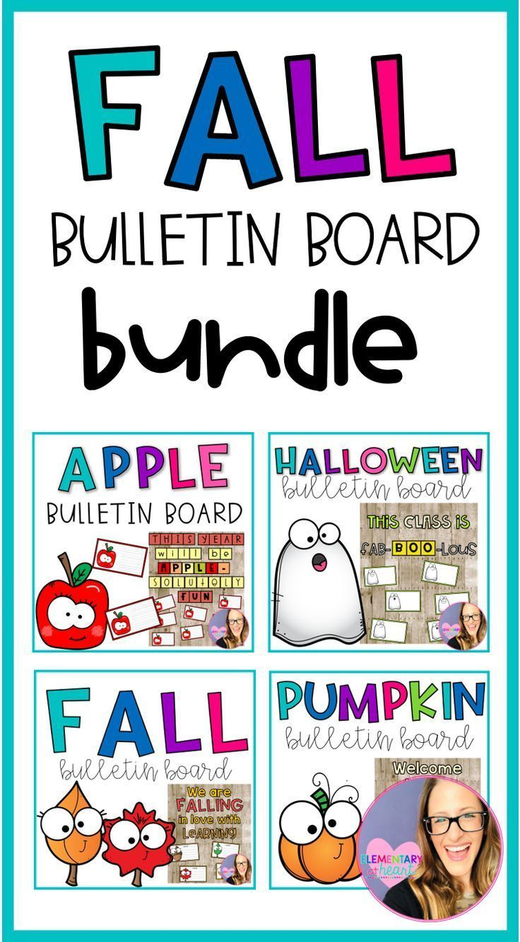 Fall Bulletin Board BUNDLE #novemberbulletinboards am so excited to share with you my FALL BULLETIN BOARD BUNDLE!!  I have included 4 of my fall bulletin boards for you to use throughout September, October, and November. Since I have included 4 different bulletin boards, you have an option as to which you would want to use during this time!  All of these Fall bulletin boards include bulletin board letters and have writing cards that are in both color and B&W. #bulletinboardideas #fallbulletinboa #novemberbulletinboards