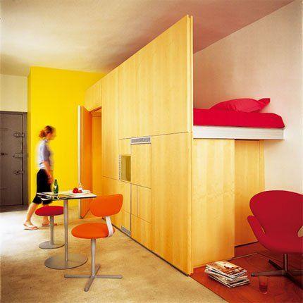 Libérer l\u0027espace dans un studio de 30 m² Fonction technique