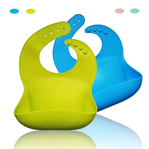 Waterproof Silicone Bib With Food Catcher Flexible Baby Bibs For Feeding Stain Resistance Easy Clean Moldproof Anti Bacteria P Boys' Baby Clothing