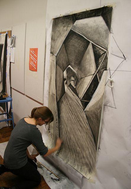 Large Charcoal Drawing In 2019 Art Drawings Ap