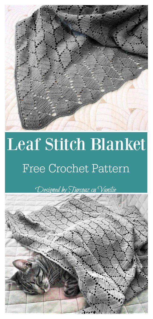 Leaf Stitch Baby Blanket Free Crochet Pattern | Afghan Crochet ...