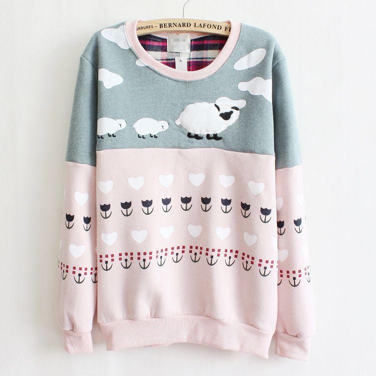 Magic] newest style high quality fleece inside warm hoodies women ...