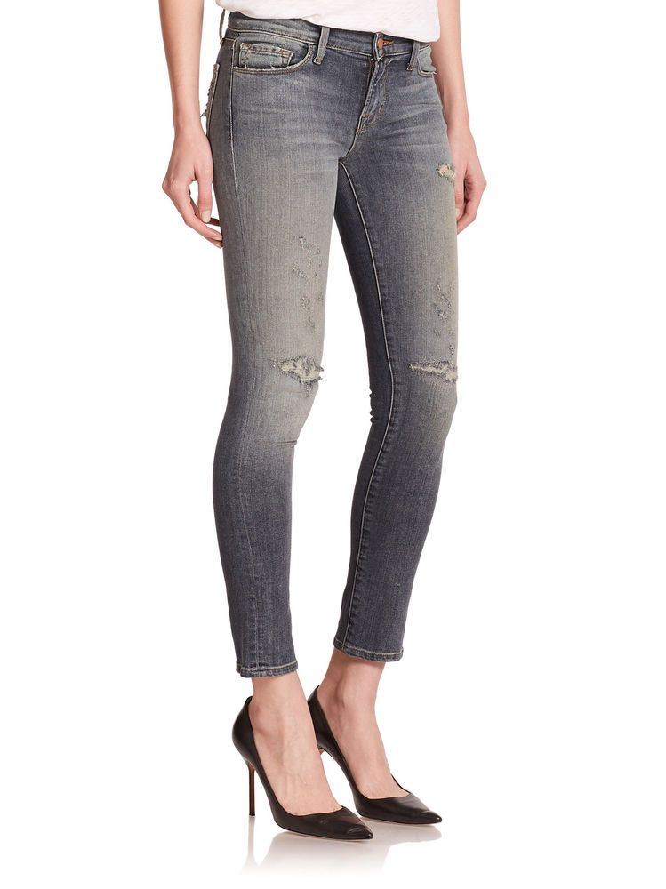 660396b8020b  238 NEW J Brand 811 Mid Rise Skinny Leg Jeans in Revolution Destroyed Wash  28  jbrand  jbrandjeans  skinnyjeans  boutiquedenim