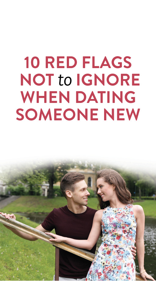 Red flags when online dating