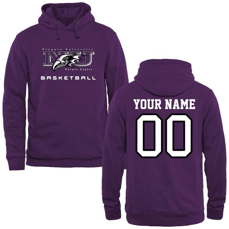 b87f9276 Niagara Purple Eagles Personalized Basketball Pullover Hoodie - Purple