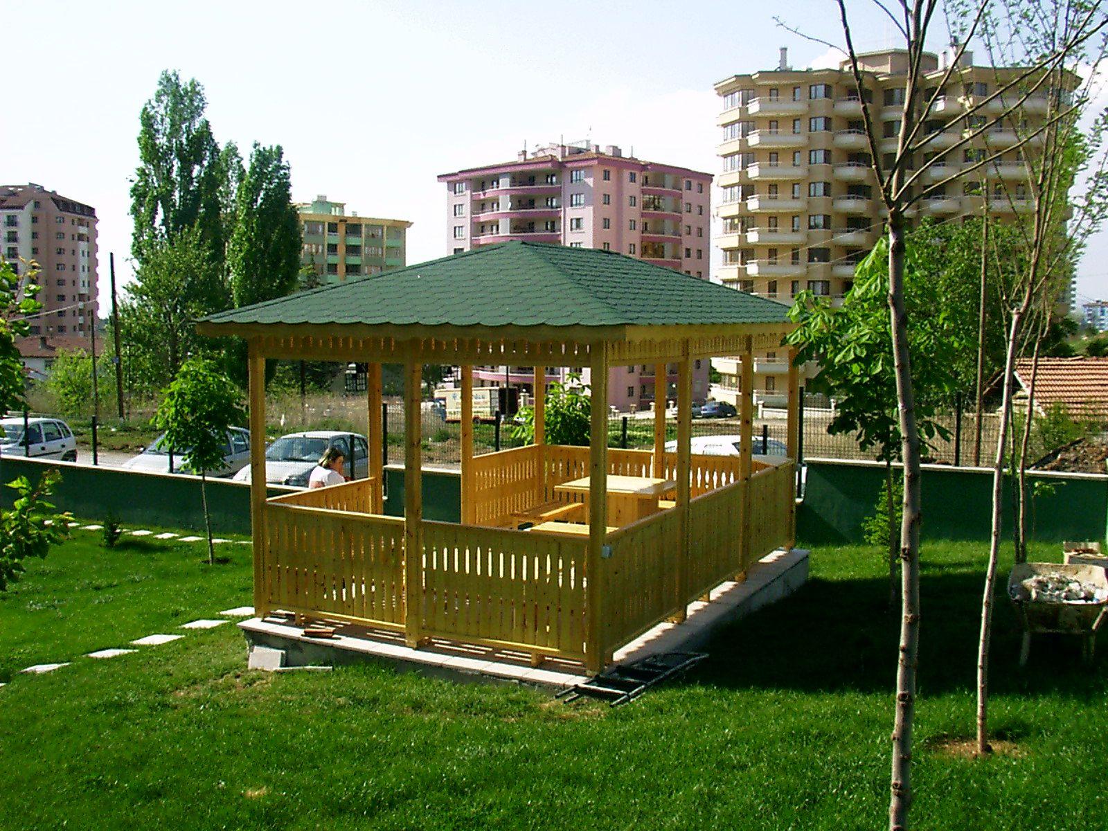 Ahşap kamelya- Wooden gazebo Uygulama: Hızarcıoğulları Ahşap Yapı ...