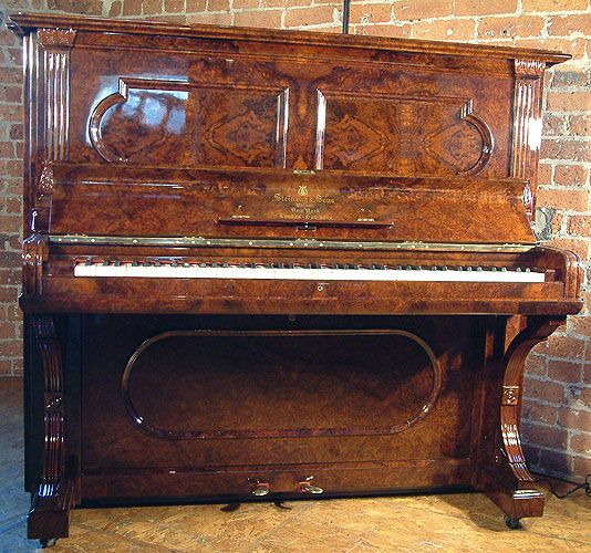 repurposing kitchen cabinets an 1886 steinway upright piano with a burr walnut 1886