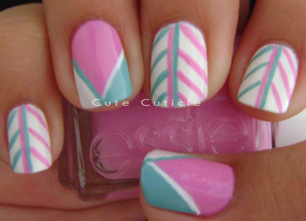 Cute design thatus easy with stripers or you can use tape nails