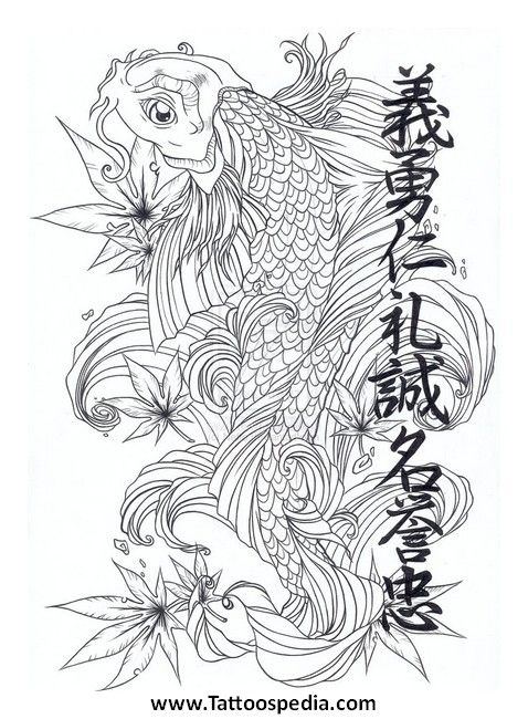 Gallery For  Butterfly Koi  Black Butterfly Koi Tattoo