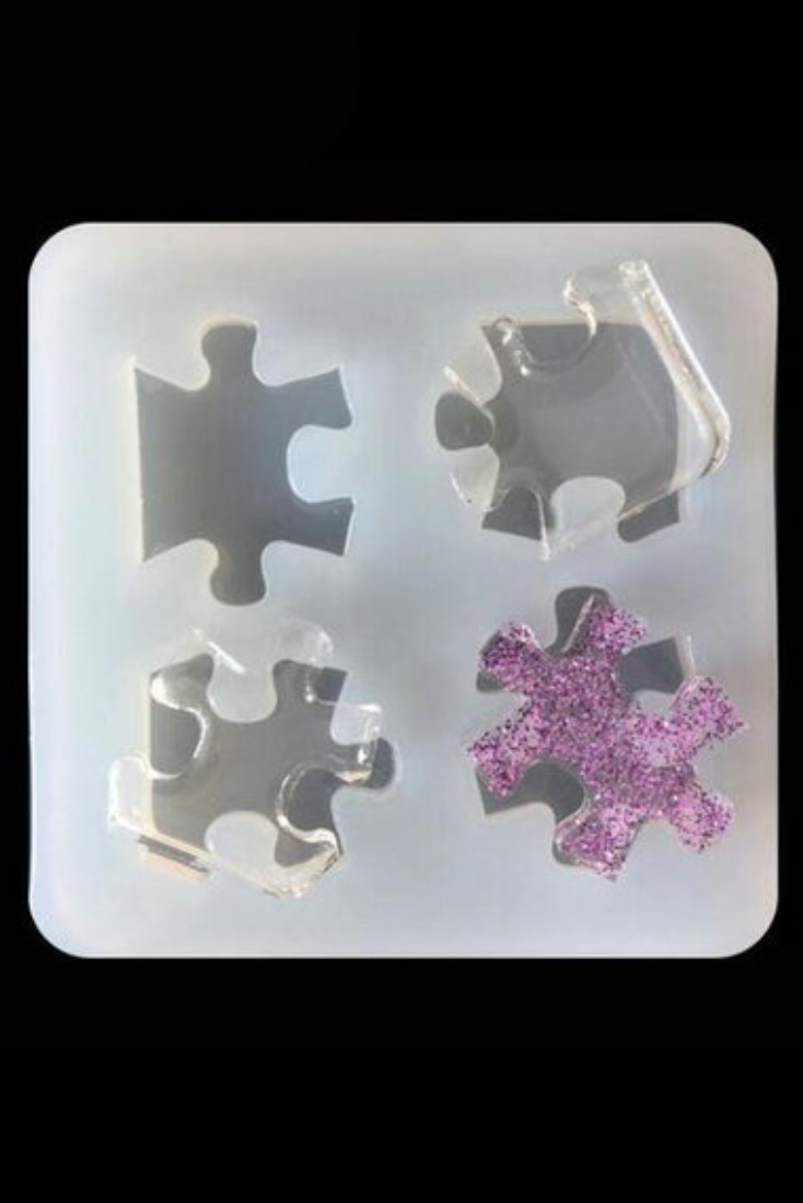 DIY Puzzle Piece Mold Food Safe Silicone Mold Slime Charms