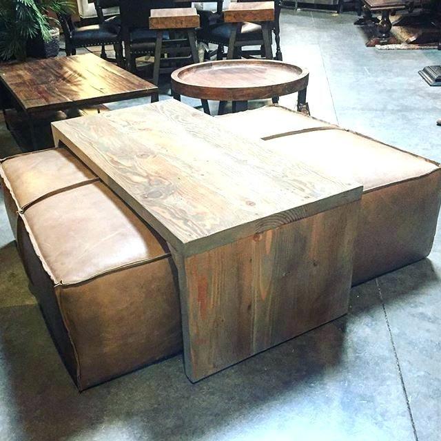 Coffee Table Ottomans Ottoman Coffee Table Coffee Table Ottoman Combo  Rectangle Coffee Table With Ottomans Underneath