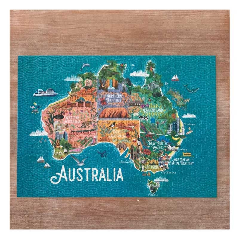 Map Of Australia Jigsaw Puzzle.Australian Gifts For Overseas This Stunning Australian Map Jigsaw