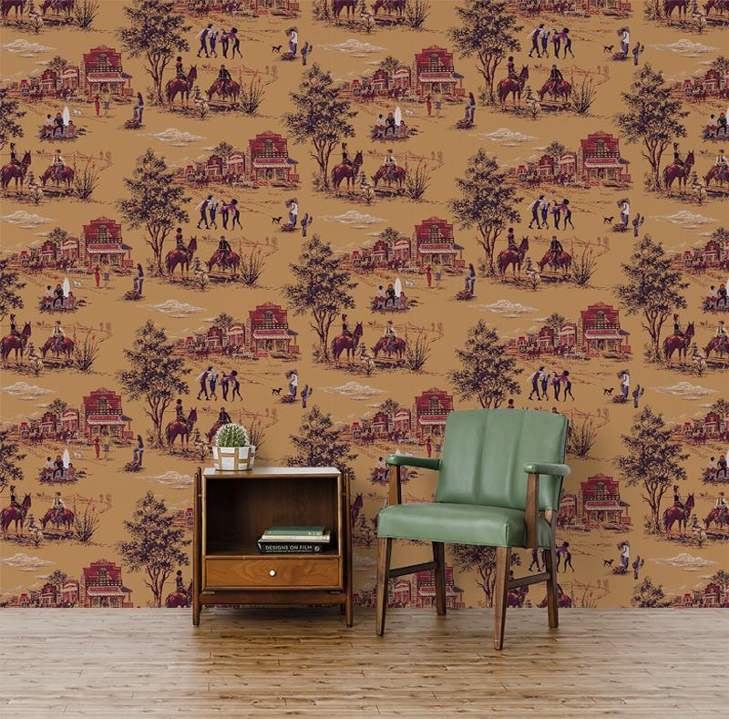 Punk Rock Toile Peel And Stick Removable Wallpaper Toile Wallpaper Vintage World Maps Vinyl Wallcoverings