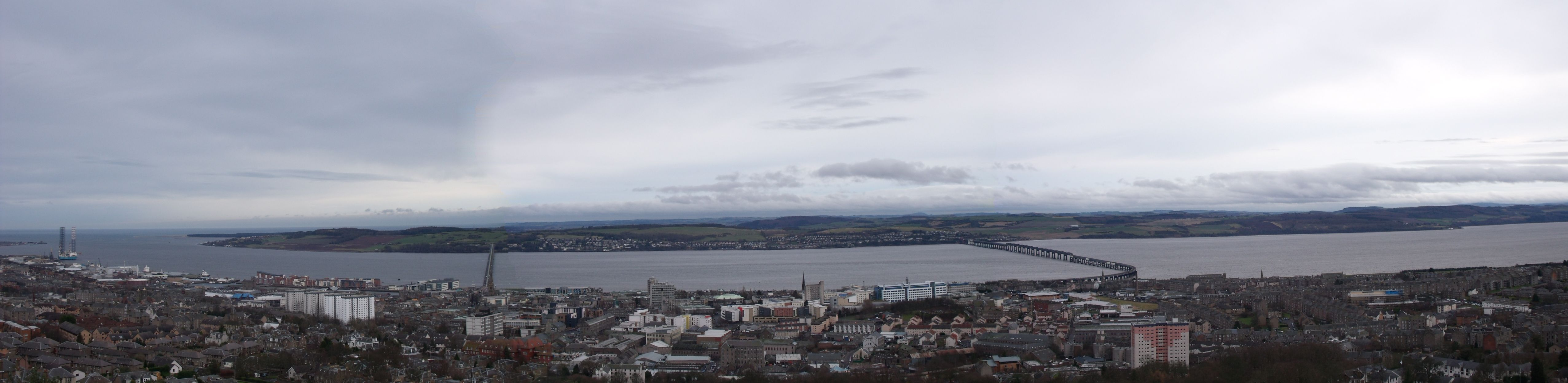 Cloudy day in my home town of Dundee, looking over the city from the Law Hill.
