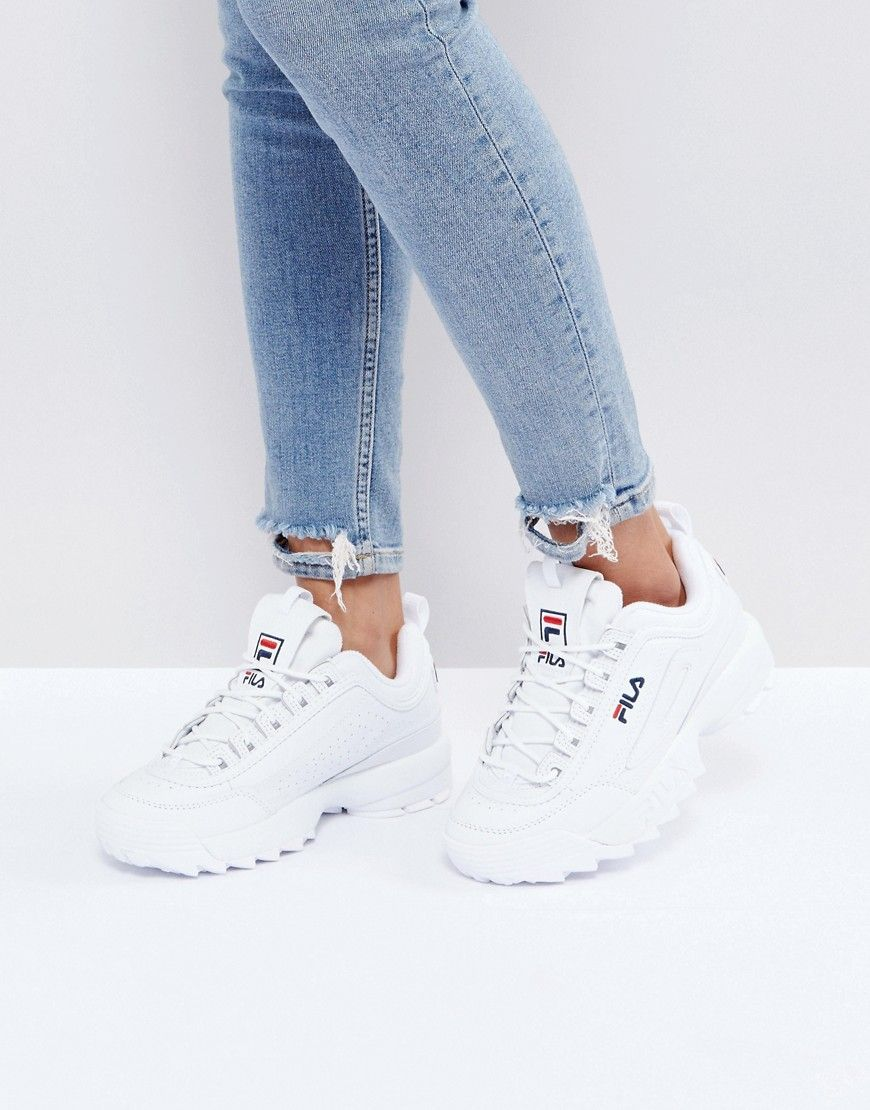 Fila Disruptor Low Sneakers In White - White | streetstyle ...