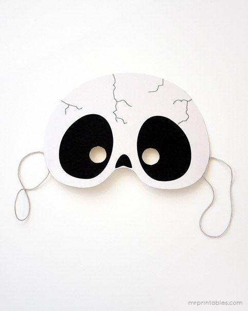 маски на хэллоуин фото своими руками