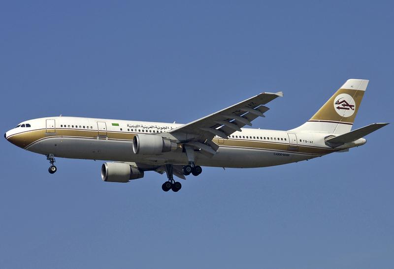 Libyan Arab Airlines A300b4 600r Ts Iaz Fco 2006 9 8 Libyan Airlines Wikipedia Airbus Airlines Libyan