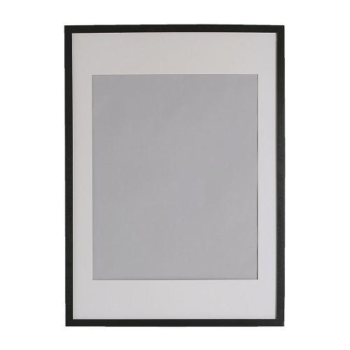 ribba frame black ikea 25 28 x 40 matted to 20 x 28 apartment living pinterest. Black Bedroom Furniture Sets. Home Design Ideas