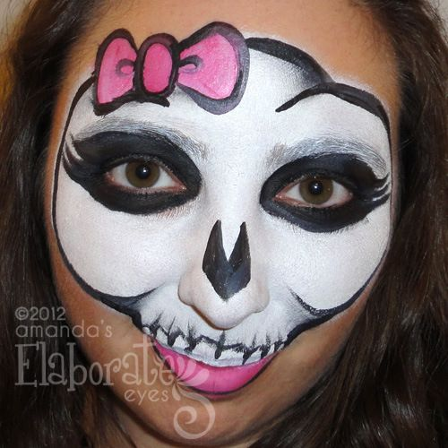 The Spooky Side Of Halloween Face Painting Halloween Eye Face
