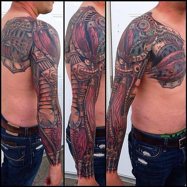 Cooltattoos Artist Caleb And Instagram Photo Websta Cyborg Tattoo Japanese Tattoo Biomechanical Tattoo