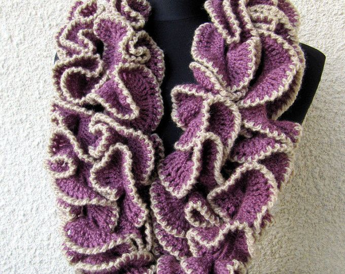 Unique Scarf Pattern, Crochet PATTERN, Multicolor Scarf Lariat Curly ...