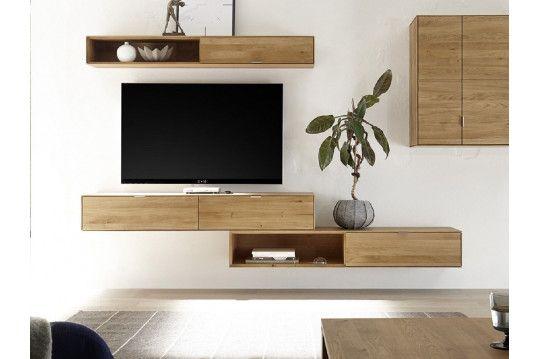 Element Suspendu 1 Tiroir 1 Niche Filigrame En Chene Massif In 2019 Home Design Furniture House Design Element Tv