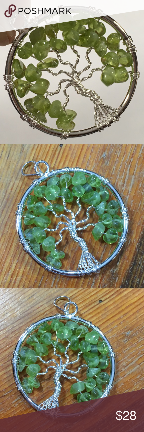 Peridot Tree of Life Pendant | Peridot, Green colors and Cable