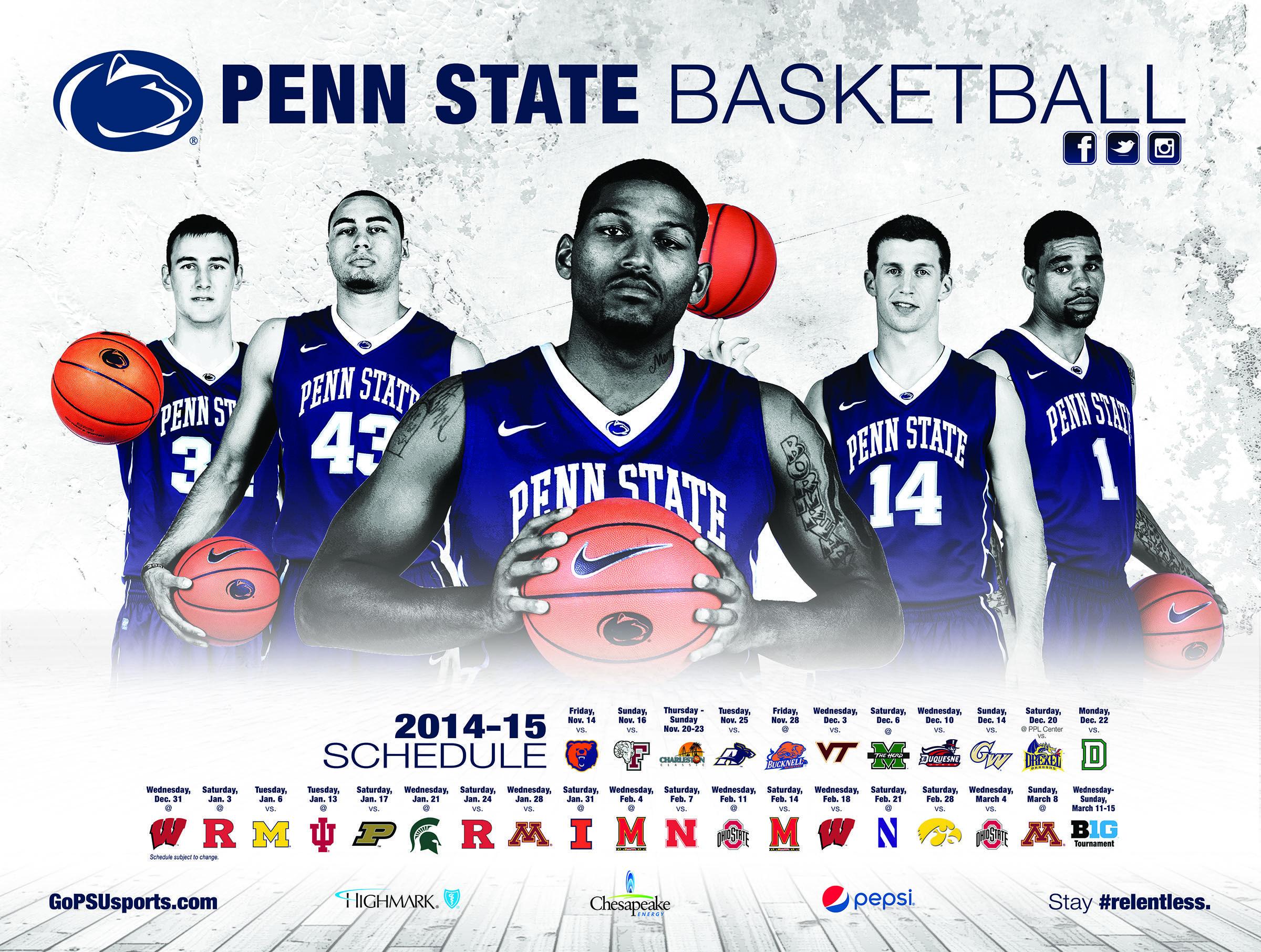 penn state basketball schedule poster #baller | design geek