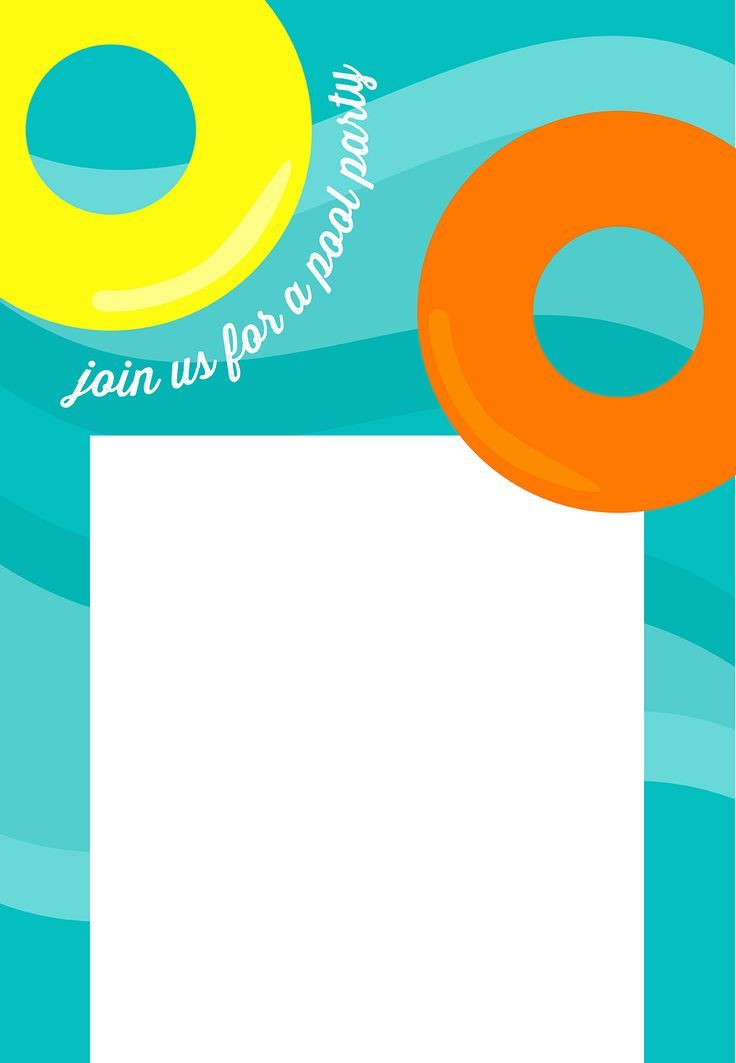Pool Party Invitation  Free Printable Summerl Party Invitation
