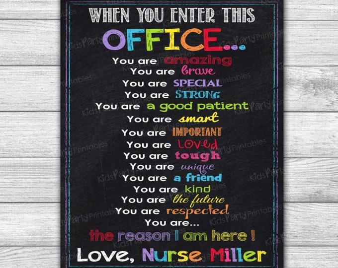 photo regarding Printable Nurses Week Games identify University NURSE Indicator, College or university Nurse Office environment Decor, PRINTABLE
