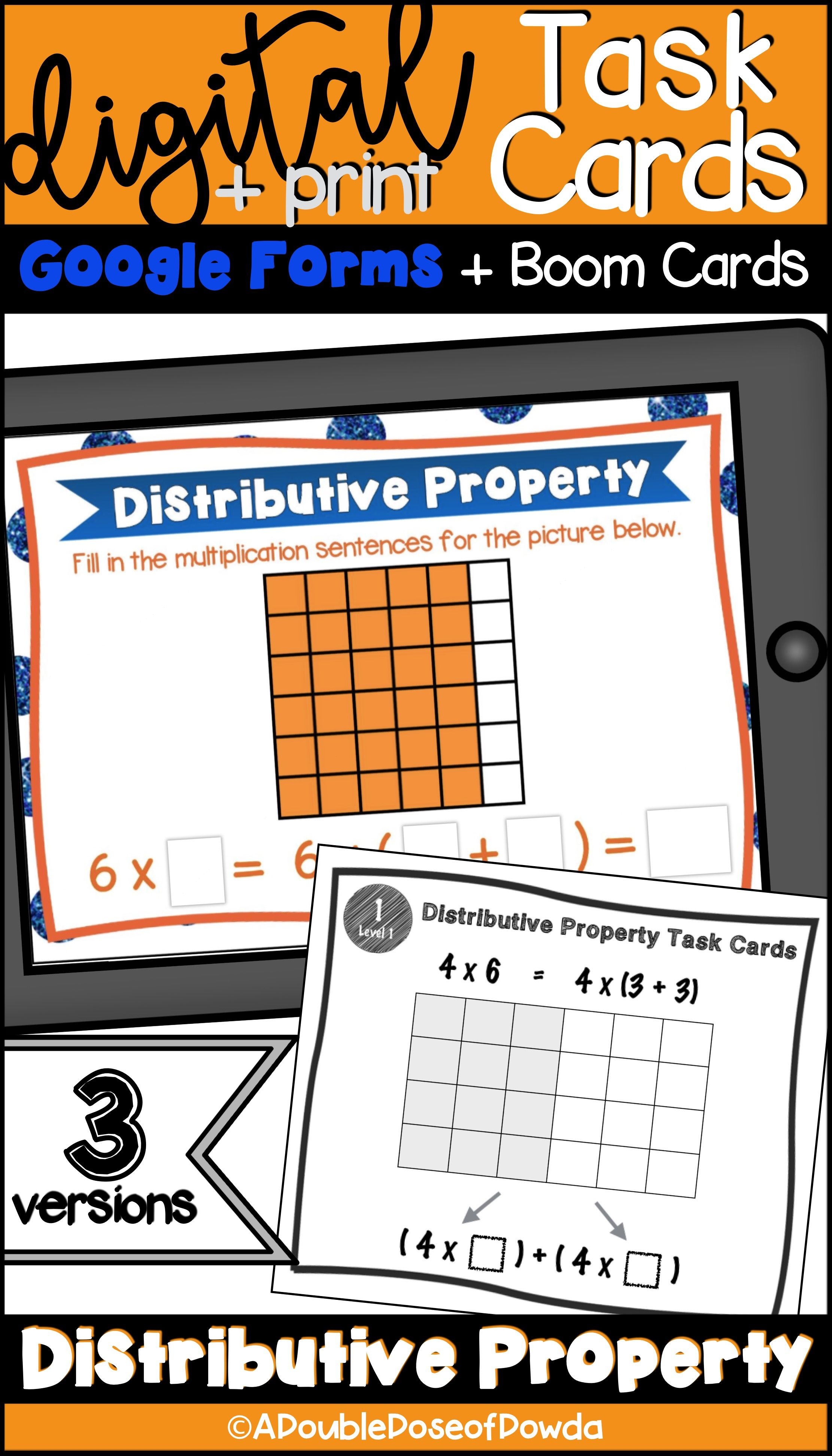 Students Practice Solving Distributive Property Of