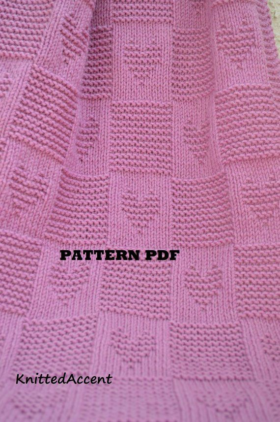Baby Blanket PATTERN, only in ENGLISH, written instructions with diagram #babyblanket