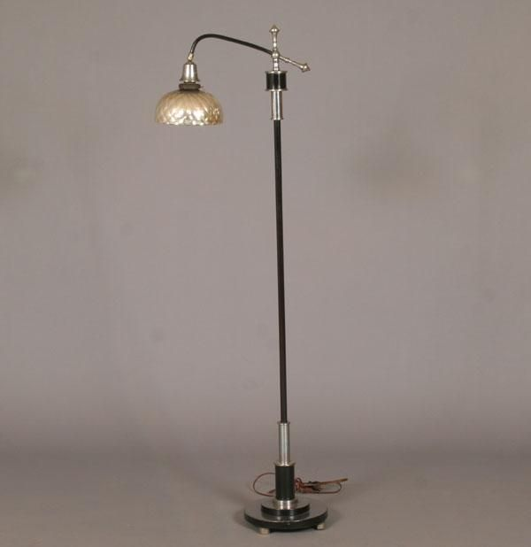 Deco Bridge Lamp W Mercury Glass Shade