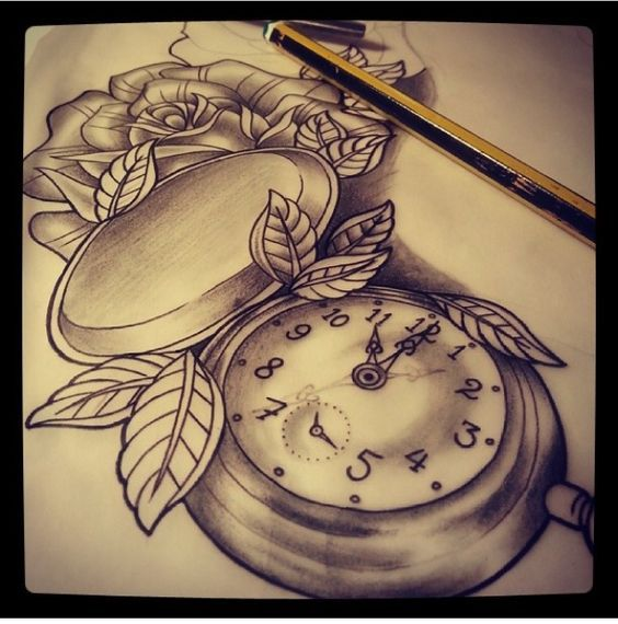 Taschenuhr herz tattoo  Bildergebnis für pocket watch drawing tattoo | Tattoo | Pinterest ...