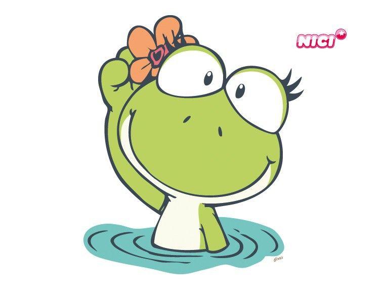 Wandtattoo Green Lilly Winkt Frosch Malvorlagen Frosch Zeichnen