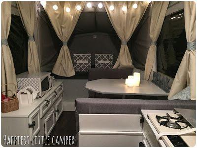 The Big Reveal Remodeled Campers Camper Interior Popup Camper Remodel