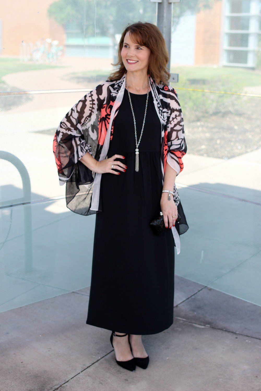 5b8f3ec8a46 Looking for black maxi dress outfit ideas  Here are two ways to wear one   dressed up and down. This is the perfect versatile dress for summer and  even into ...